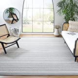 Safavieh Kilim Collection KLM705F Handmade Flatweave Cotton Area Rug, 5' x 8', Grey / Beige