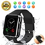 Smartwatch Fitness Tracker Smart Watch Smart Watch Bluetooth with Pedometer and Sleep Monitoring Cell Phone Watch with SIM Card Slot Compatible Android iOS Phone for Men Women Kids