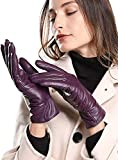 Super-soft Leather Winter Gloves for Women Full-Hand Touchscreen Warm...