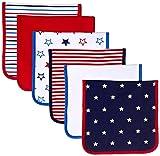 Amazon Essentials Baby 6-Pack Burp Cloth, Uni Americana, One Size