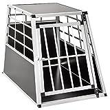 tectake Cage Box Caisse de Transport pour Chien Mobile Aluminium - diverses Tailles au Choix - (Simple/Grand | No. 400651)