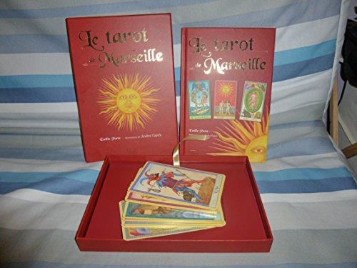 Le tarot de Marseille sous coffret, livre + 22 cartes