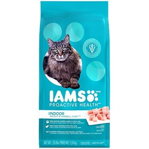 IAMS PROACTIVE HEALTH INDOOR WEIGHT and HAIRBALL CARE Dry Cat Food 3.5 Pounds