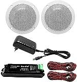 Herdio Kit de haut-parleur Bluetooth de plafond, étanche, pour la salle de bain, la...