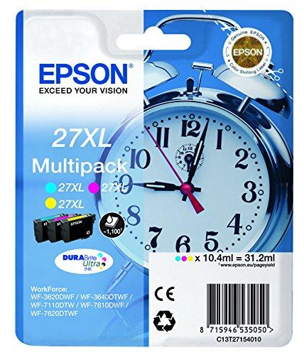 Epson 27 DURABrite Ultra Ink- Cartuccia d'Inchiostro, Multicolore (Cyan/Magenta/Yellow)