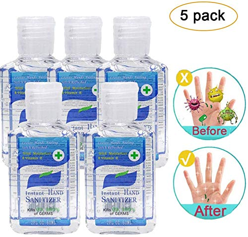 5 Pack 2 Fl OZ Hand Sanitizer Gel Liquid Hand Soap for Hand Cleaning, No Rinse Foam Hand Soap Gel