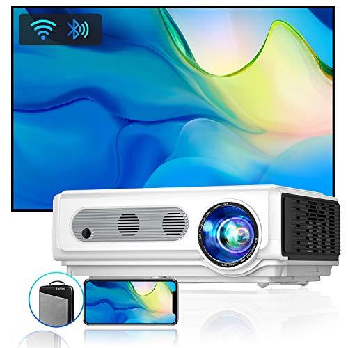 Vidéoprojecteur WiFi Bluetooth Full HD 1080P, 7500 Lumens TOPTRO Rétroprojecteur Supporte 4K ,Projecteur Compatible iPhone Android Téléphone, Zoom X/Y, 300'' Display Home Cinéma Outdoor Film