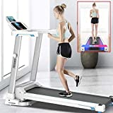 【US Fast Shipment】 Treadmills with Bluetooth Speakers &12 Preset Programs, 2.0HP Folding Electric Treadmills LCD Display, Walking Jogging Machine for Home/Gym, Low Noise 500 lbs Weight Capacity (C)