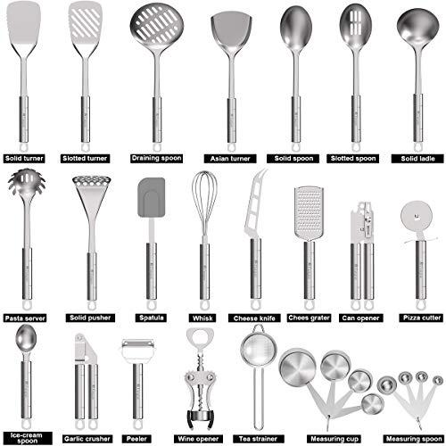 Product Image 2: Stainless Steel Kitchen Utensil Set- Fungun 28 Pcs Cooking Utensils - Nonstick Kitchen Utensils <a href=