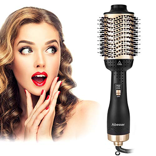 Aibesser Haartrockner, 5 In 1 Upgrade Multifunktions Warmluftbürste Hair Dryer...