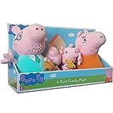 Peppa Pig 4 Family Paquete de peluche de peluche en caja de presentación