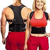 FlexGuard Back Support - Adjustable Back Brace - Posture Corrector Belt w/ Lumbar Support for Lower & Upper...