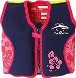 Konfidence Veste de natation pour enfant , Rose (Navy/Pink/Hibiscus) - 4-5 ans