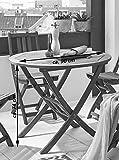 SAM Gartentisch Jasper klappbarer Holztisch mit Schirmloch, Akazienholz massiv - 2