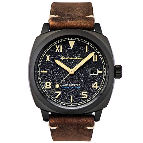 SPINNAKER Hull California Herren-Armbanduhr 42mm Leder Automatik SP-5071-03