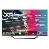 Hisense 55U71QF Smart TV ULED Ultra HD 4K 55', Quantum Dot, Dolby Vision HDR, HDR10+, Dolby Atmos, Full Array Local Dimming, Alexa integrata, Tuner DVB-T2/S2 HEVC Main10 [Esclusiva Amazon - 2020]