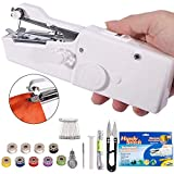 DUTISON Handheld Sewing Machine - Mini Cordless Portable Electric Sewing Machine - Home Handy Stitch for Clothes Quick Repairing with 15 Accessories