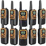 Rivins Walkie Talkies for Adults Long Range 10 Pack 2-Way Radios Up to 3 Miles Range in Open Field 22 Channel FRS Walkie Talkies UHF Handheld Walky Talky (10 Pack)