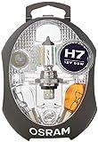 Boîte de lampes de rechange OSRAM ORIGINAL H7, lampes de phares halogènes,...