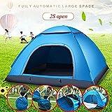 Abrir automático de velocidad sola tienda Ultra Light Tent camping al aire libre Tentcouple doble al aire libre, for la playa, jardín, camping, pesca, picnic, 200 * 200 * 130cm (Color: Azul) fangkai77