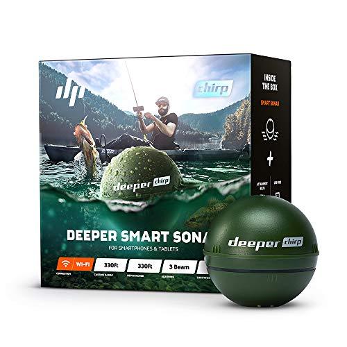 Deeper Chirp Smart Sonar Castable e Portatile WiFi Fish Finder per Kayak e Barche e sulla Riva Pesca su ghiaccio Wireless Fishfinder