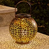 btfarm Lanterne Solaire, Lanterne Solaire LED Exterieur Jardin Lampe Marocaine...