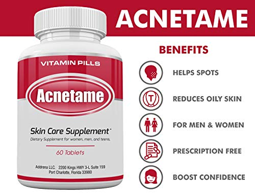 Acnetame- Vitamin Supplements for Acne Treatment, 60 Natural Pills 6