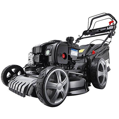 BRAST tondeuse thermique autopropulsée, 2,7 cv vitesse de 2700tr/min, coupe 46 cm, briggs & stratton (500E), 4 en 1 multifonction, bac de ramassage 60 l, système de silencieux Lo-Tone™