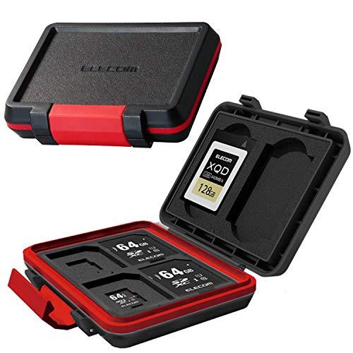 エレコム メモリカードケース SD4枚 MicroSD4枚収納 XQD2枚収納 耐衝撃 ブラック CMC-SDCHD02BK