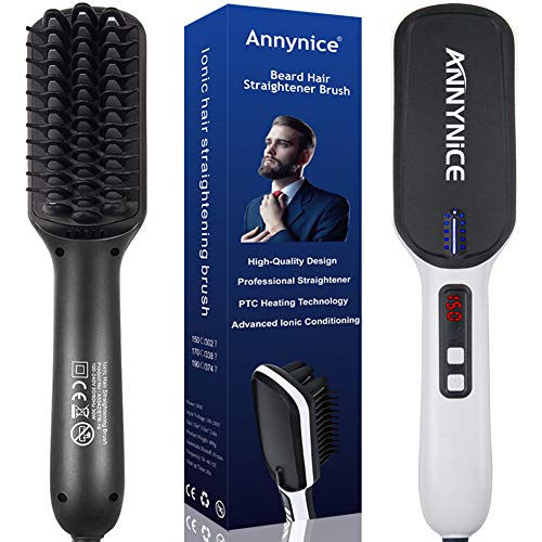 6. Annynice Professional Beard Hair Straightening for Men