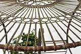 dandibo tisch halbrund aus metall oberflaeche