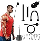 Arm Strength Training Pulley Set - Indoor and Outdoor Lift Forearm Strength Fitness Equipment High Pull Down Arm Strength Triceps Fitness Equipment Home Fitness Rope and Cable Pulley System