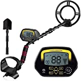 MOSTON Metal Detector for Adults High-Accuracy Metal Detector with LCD Display for Kids, Waterproof Search Coil for Underwater