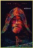 wojinbao Estilo Vintage Lienzo Poster Black Warrior Vida Pintura Decorativa hogar Pared sofá Fondo Colgando Pintura(Sin Marco)