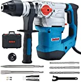 ENEACRO 1-1/4 Inch SDS-Plus 13 Amp Heavy Duty Rotary Hammer Drill, Safety Clutch 4 Functions with...