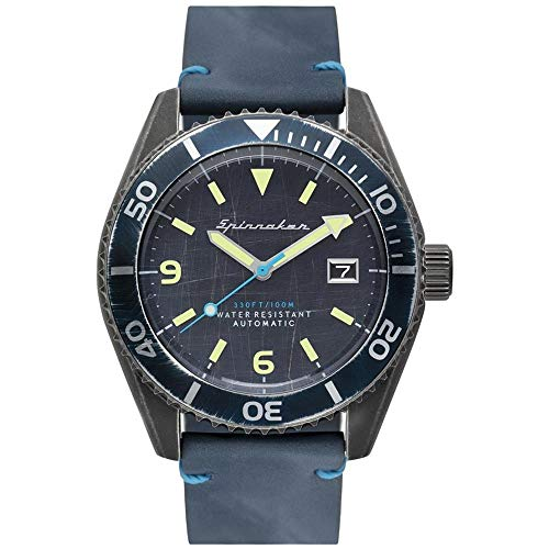 SPINNAKER Wreck Herren-Armbanduhr 43mm Armband Leder Automatik SP-5065-02