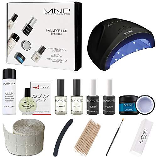 Mesauda Starter Kit Nail Modelling + accesorios + regalo aceite Alteax® y esmalte de 5 ml reconstrucción uñas gel