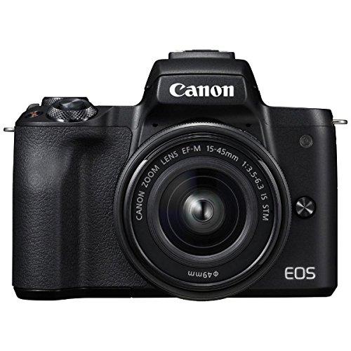 キヤノン EOS Kiss M 【EF-M15-45 IS STM レンズキット】 (ブラック/ミラーレス一眼カメラ) EOSKISSMBK1545ISLK