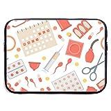 Método de anticoncepción de Dibujos Animados Fondo Bolsas para computadora portátil Tableta Netbook de 15 ″, Maletín de Manga Funda para Bolso de Mano Funda