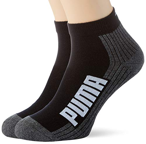 PUMA Bwt Cushioned Quarter Socks (2 Pack) Calzini, Nero/Bianco, 39-42 Unisex-Adulto