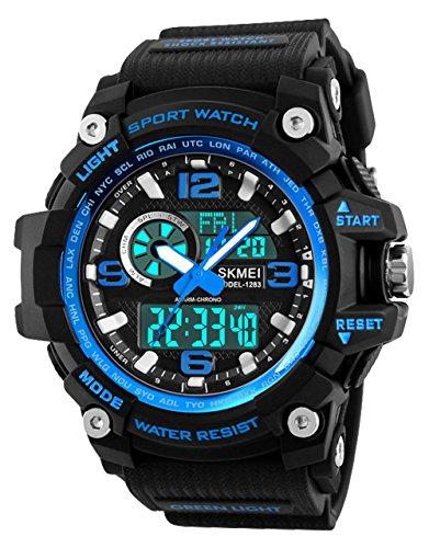 Orologio sportivo uomo, impermeabile digitale militare orologi con conto alla rovescia/timer/allarme...