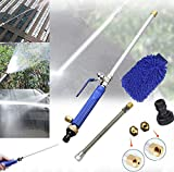 Magic High Pressure Wand Improved Power Washer Water Hose Nozzle Water Jet,Garden Hose Sprayer for Car Wash and Window Washing,2 Tips Accessories A