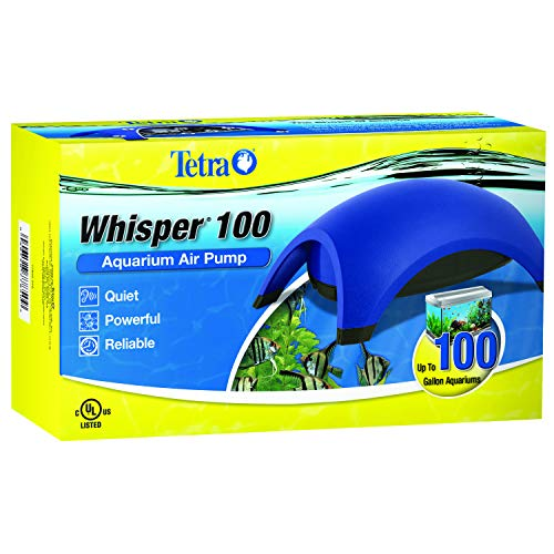 Tetra 77850 Whisper Air Pump, for Aquariums, Quiet, Powerful Airflow, 60 to 100-Gallons