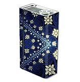 Skin Decal Vinyl Wrap for Smok Xcube 2 BT50 Vape Mod Box / Flowers and Swirls