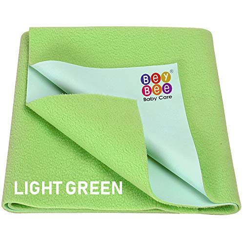 BeyBee Dry Sheets for Born Baby Small Medium Large XL Size (Small (50cm X 70cm), Light Green)