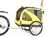 Sepnine & Leonpets Dog cart of 2 in1 Medium pet Dog Bike Trailer Bicycle Trailer and Jogger 10201 with a 6' Swivel Front Wheel