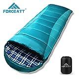 Forceatt Sac de Couchage de Camping en Flanelle,La Température Applicable est -10°C-15°C,3-4...