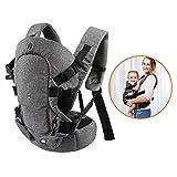 Porte-bébé convertible Xatan - Toutes positions de portage de nouveau-né à tout-petits - Porte-bébé ergonomique avec maille perméable à l'air douce et boucles réglables