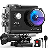 COOAU 4K 20MP Wi-Fi Action Camera External Microphone Remote Control EIS Stabilization Underwater...