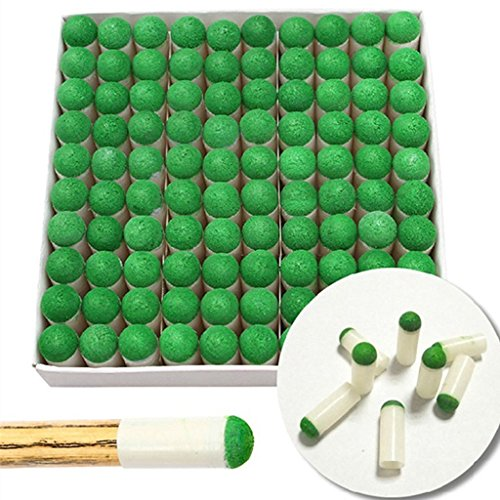 Hr Group 100pcs 10mm Push-on Snooker Tips Pool Cue Stick Slip-on